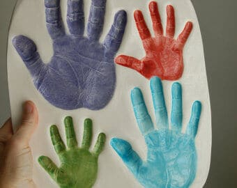 Celebrate Father's Day by making Handprint Molds as a keepsake