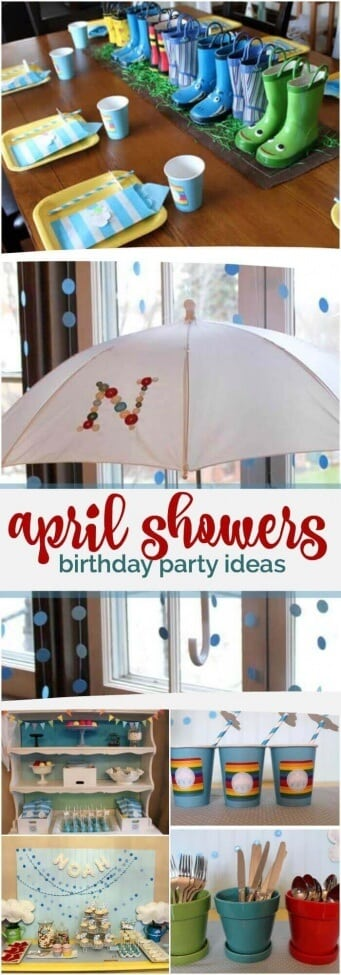 Boy's April Showers Birthday Party