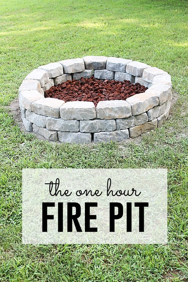 DIY One Hour Fire Pit