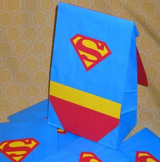 Superman favor bags