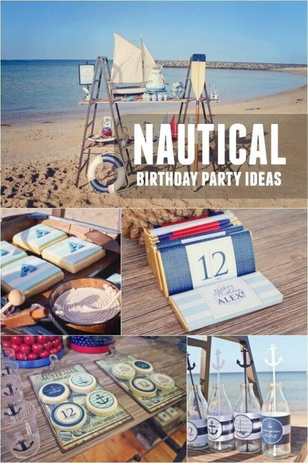 Boy's Nautical Birthday Party