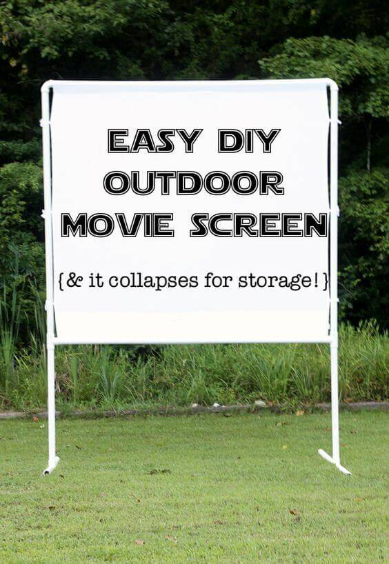 Easy, collapsable DIY outdoor movie screen
