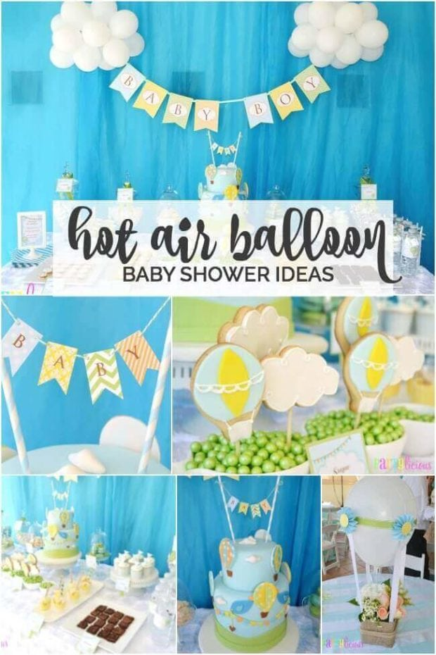 Boy's Hot Air Balloon Baby Shower