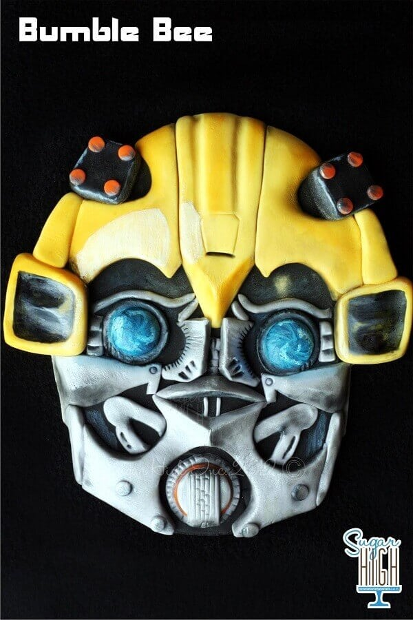 Bumble Bee Transformers Cake