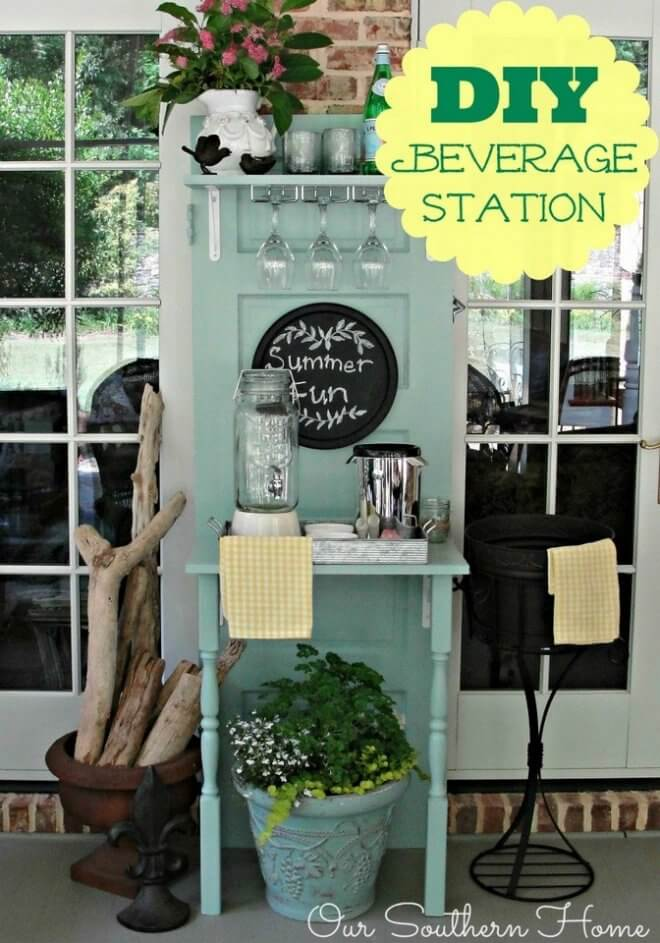 Upcycled DIY Beverage Station