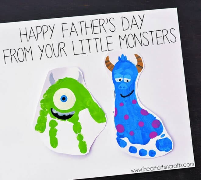 This Monster's Inc Inspired Father's Day Art is adorable and fun