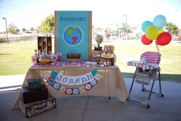Boys World Traveler First Birthday Party