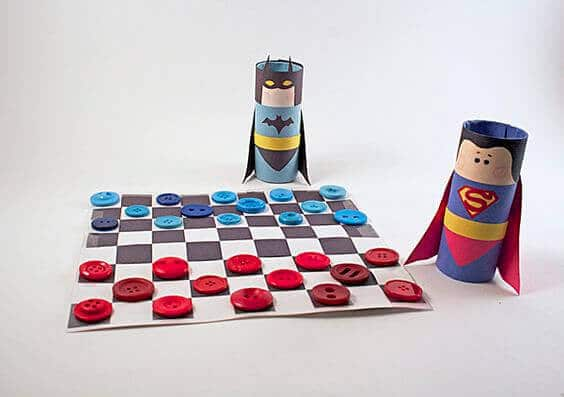 DIY Batman vs. Superman Checkers Set