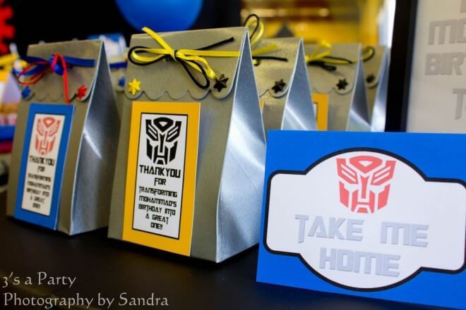 Transformers Party Favor Bags