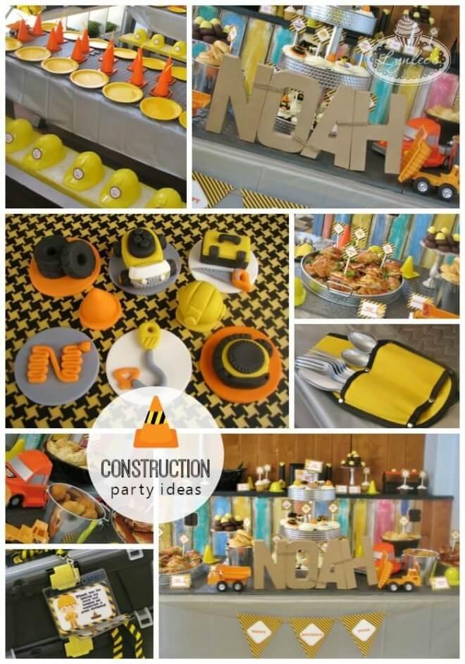 Boy's Construction Birthday Party Ideas