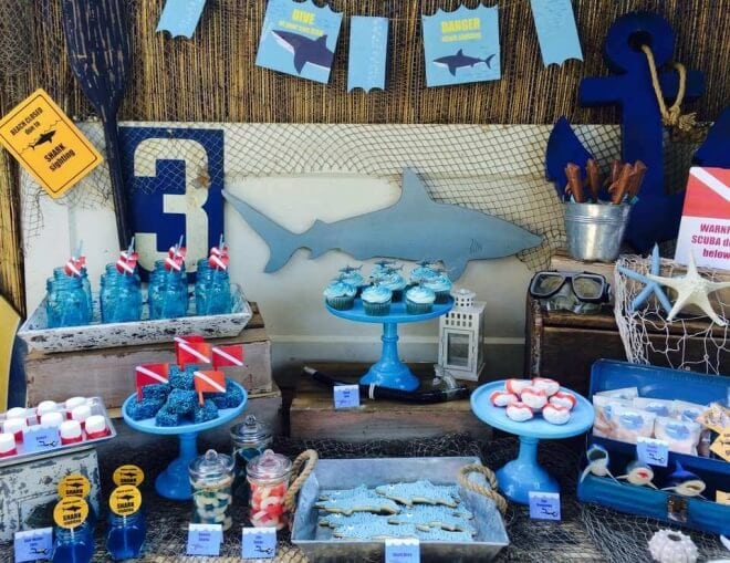 Shark Themed Birthday Party