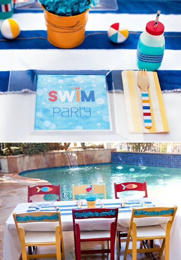Swim Themed Birthday Party