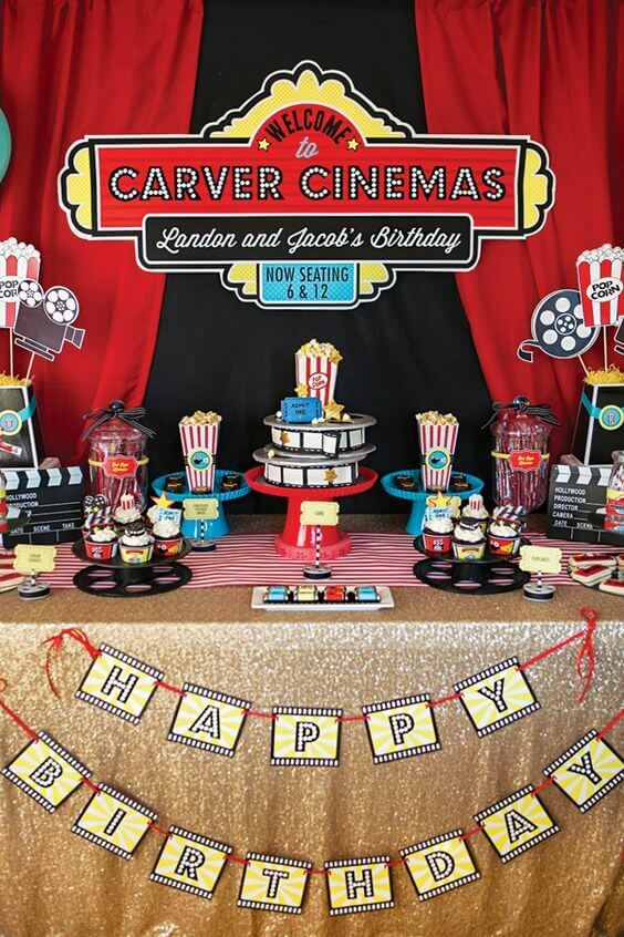 Lights, Camera Birthday Party