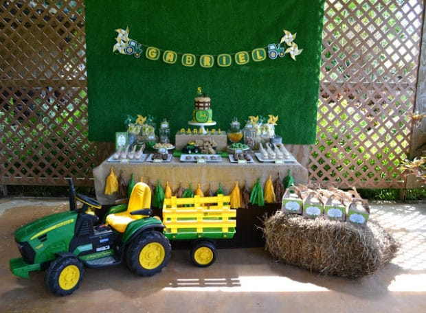 Boys Tractor Themed Birthday Party