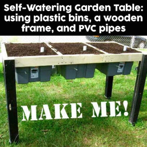 Make your own DIY Self Watering Garden Table
