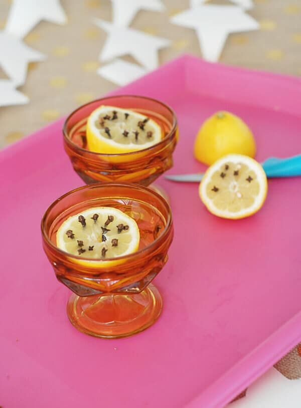 Use lemon and cloves to keep bugs away.