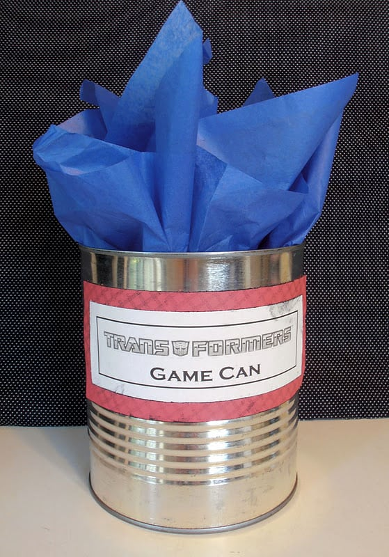 Homemade Transformers Birthday Party Favors