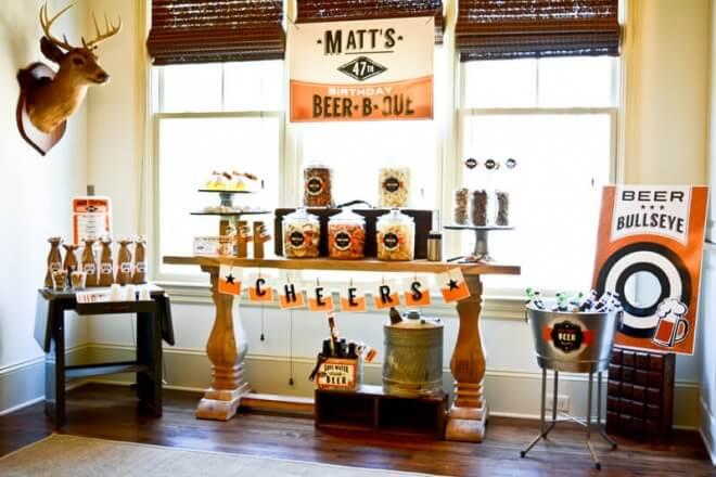 Beer Tasting Party Snack Display