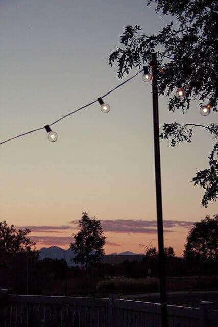 DIY String lights for summer nights
