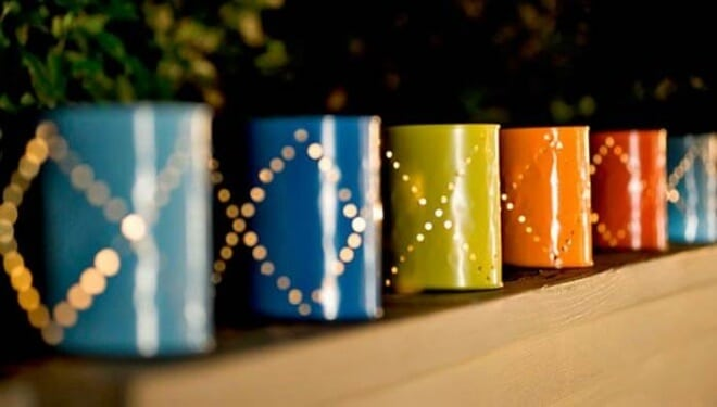 DIY Paint Can Lights