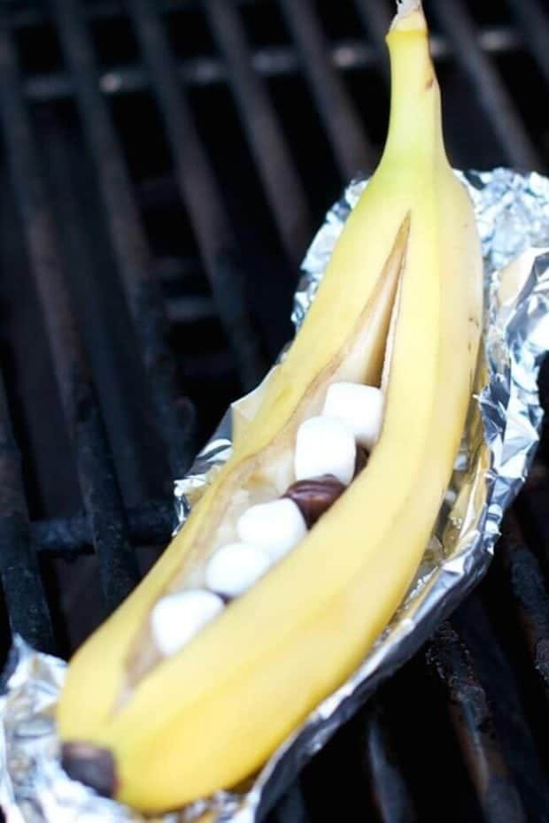 Banana Smores on the Grill