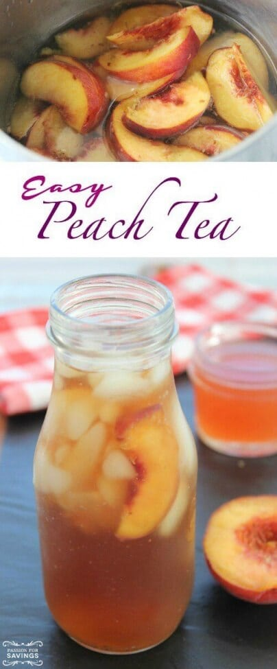 Homemade Peach Tea