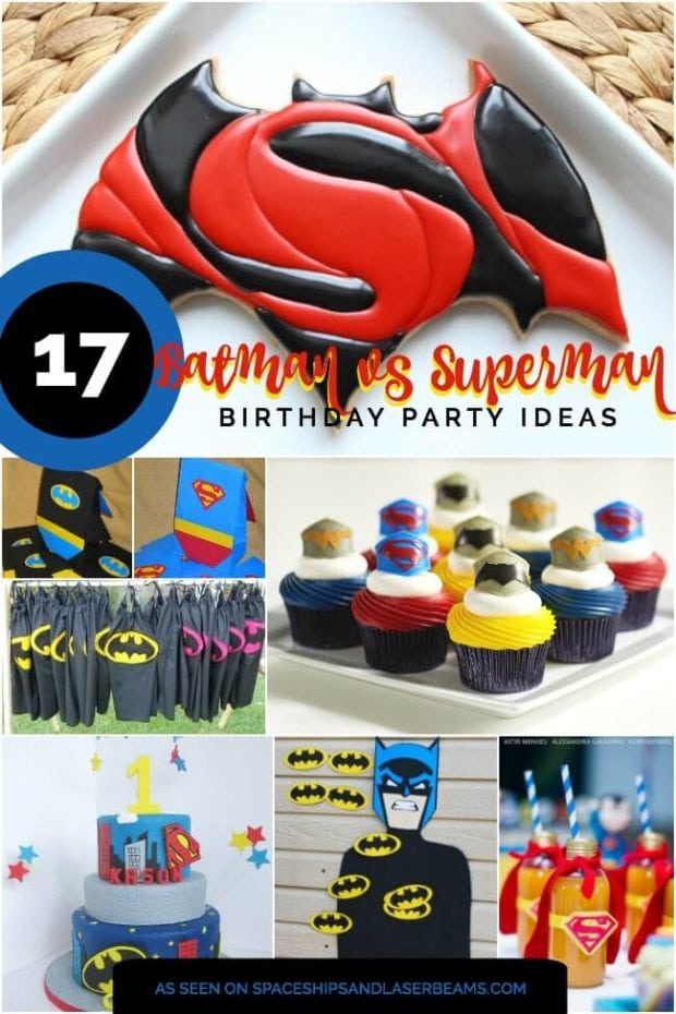 Batman vs Superman party ideas from Spaceships and Laser beams