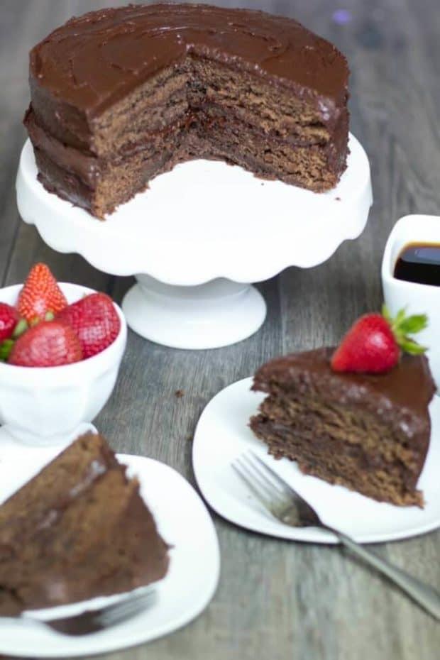 Almond Chocolate Cake Recipe