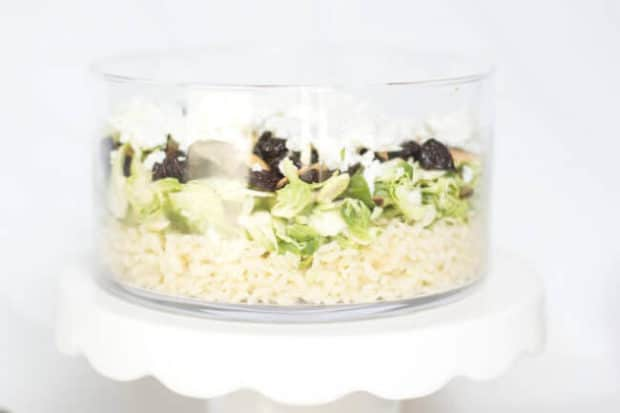 Brussels Sprout Orzo Salad