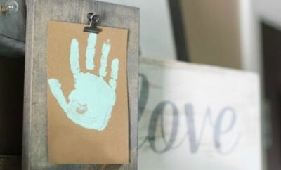 Handprint Craft Art with DIY Clip Frame
