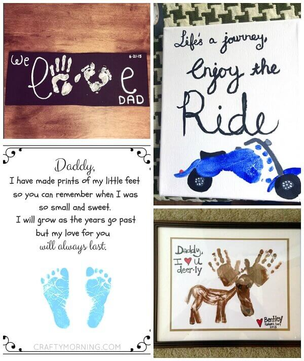 Fathers Day Footprint Craft