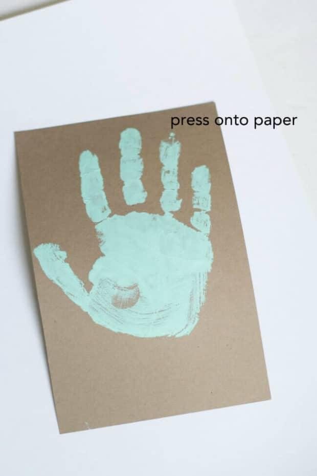 Handprint Craft on Paper