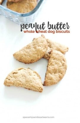 Homemade Peanut Butter Whole Wheat Dog Treats