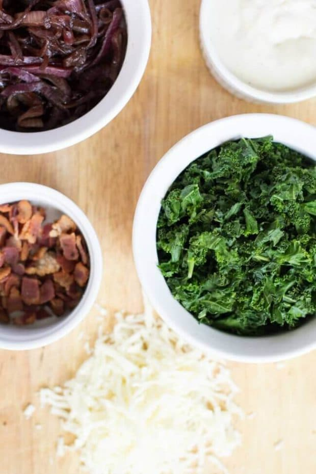 Ingredients for Bacon Kale Pizza