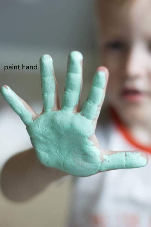 Kid's Handprint Craft Idea