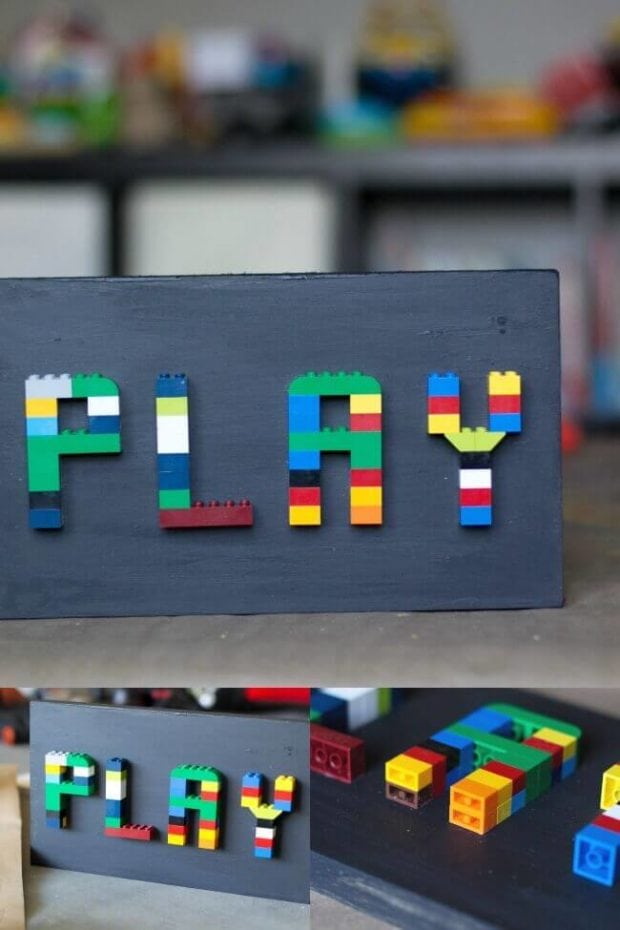 LEGO Playroom Sign