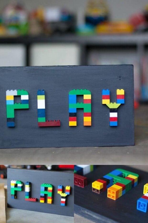 LEGO Playroom Sign