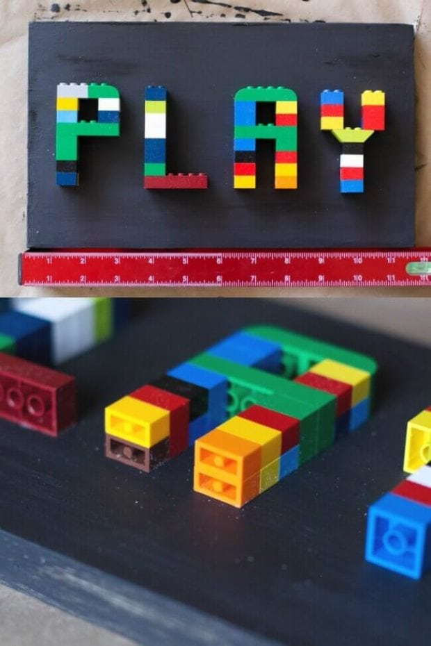 Easy DIY LEGO Sign