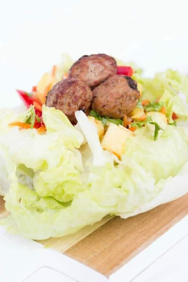 Lettuce Wrap with Meatballs