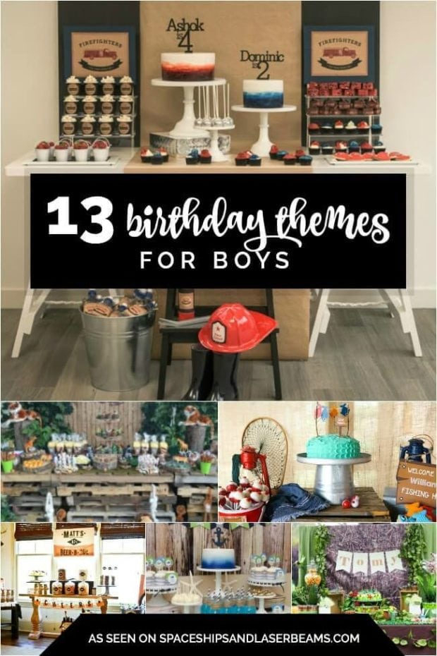 13 Birthday Themes for Boys Spaceships and Laser Beams
