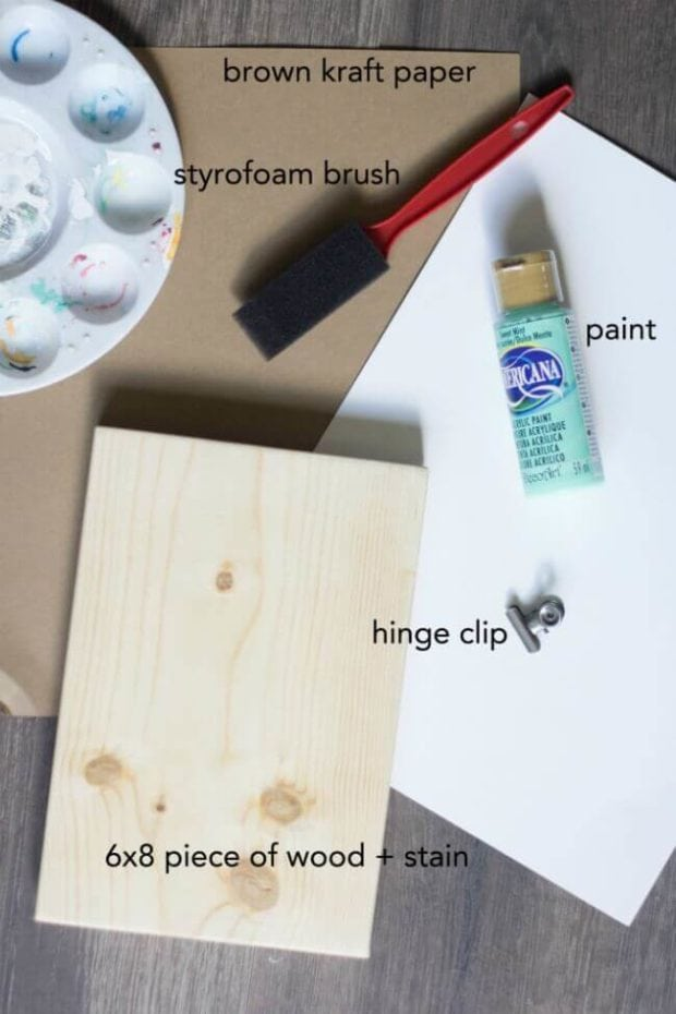 Supplies for Hanging Handprint Craft