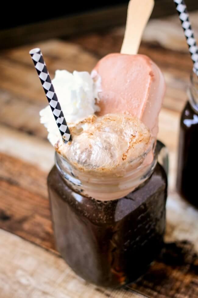 Root Beer + Fudge Float
