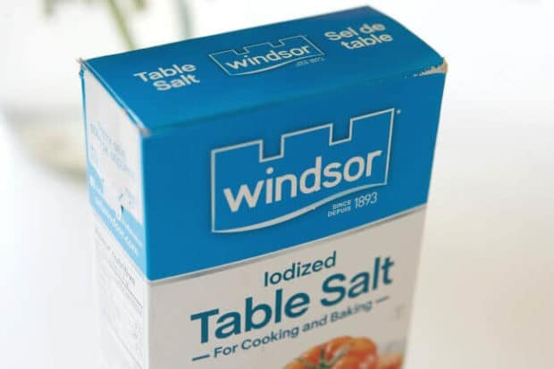 Windsor Iodized Table Salt