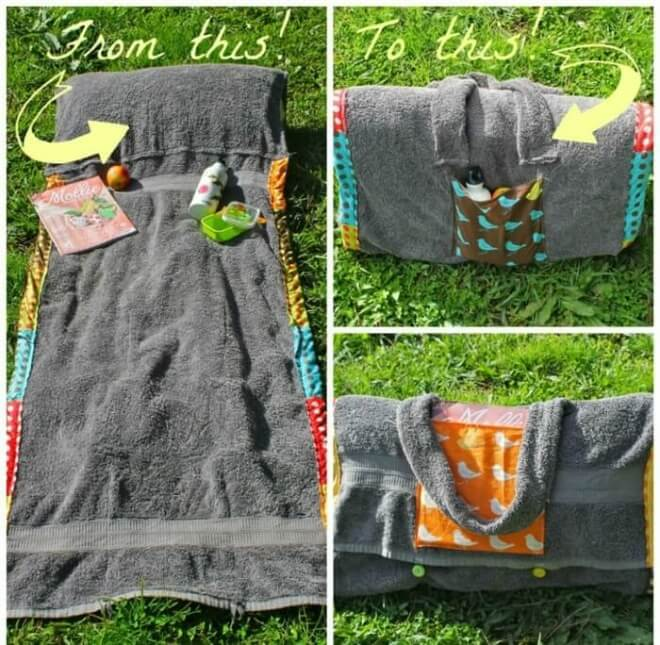 This Cleave DIY Towel Blanket With A Pillow Beach Hack Will Ensure You Can Sunbathe In
