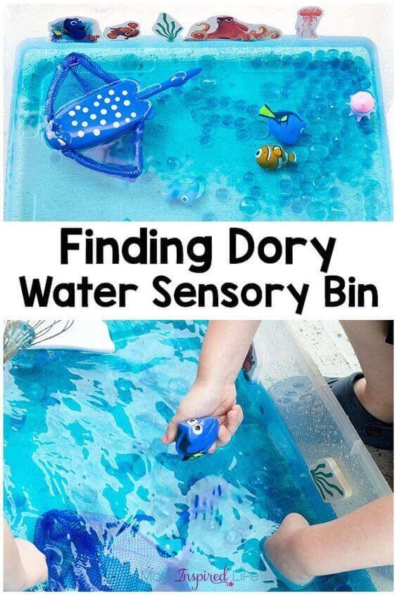 Finding Dory Water Sensory Bin