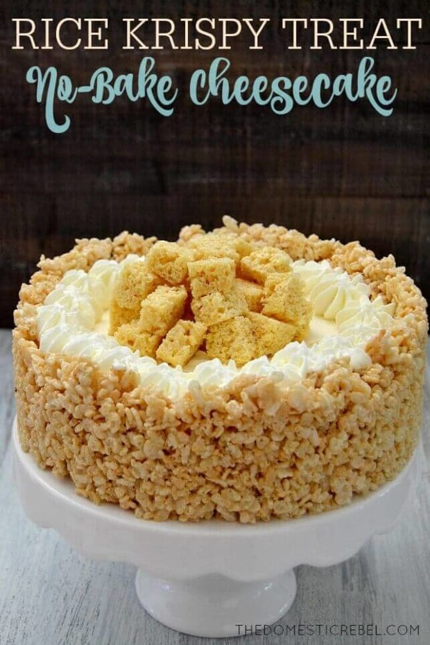 Rice Krispie Treat Cheesecake