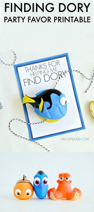 Finding Dory Party Favor Printable