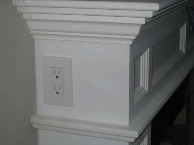 Electrical Outlet in Fireplace Mantle (for lights)