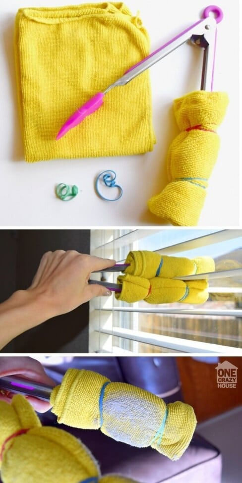 DIY Blind Cleaner Hack