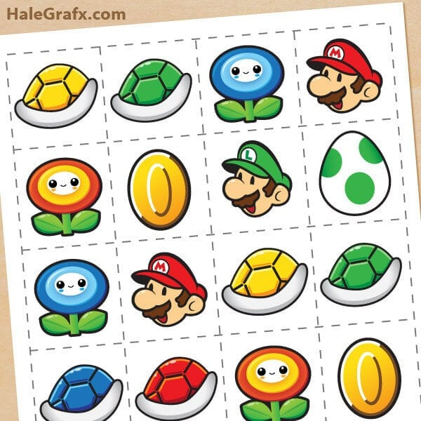 Super Mario Brothers Memory Game + Free Printable